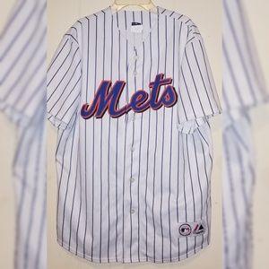 MLB NY Mets David Wright Jersey Mens Large